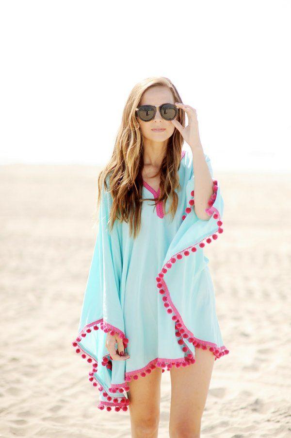 poncho de plage