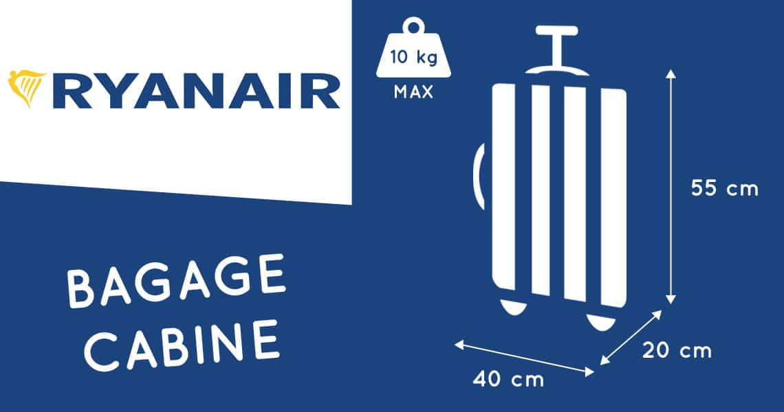 ryanair taille valise cabine