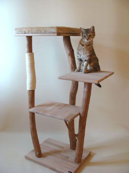 arbre a chat bois naturel