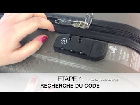comment ouvrir une valise à code