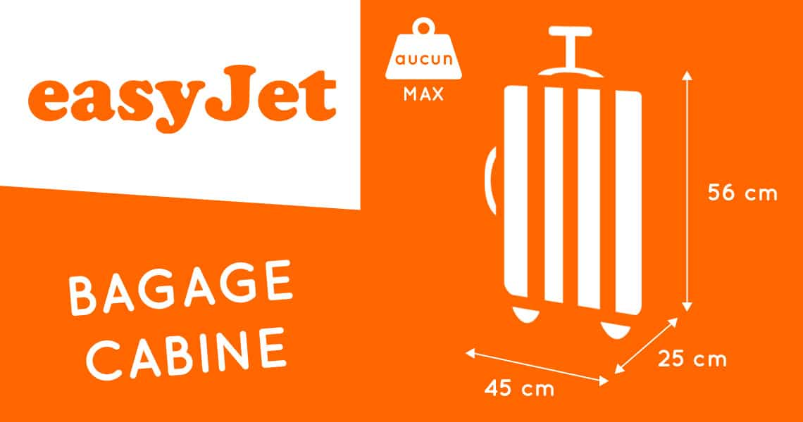 dimension sac cabine easyjet