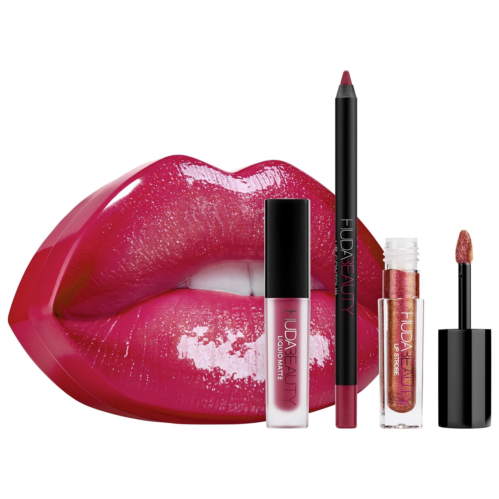 huda beauty lip set