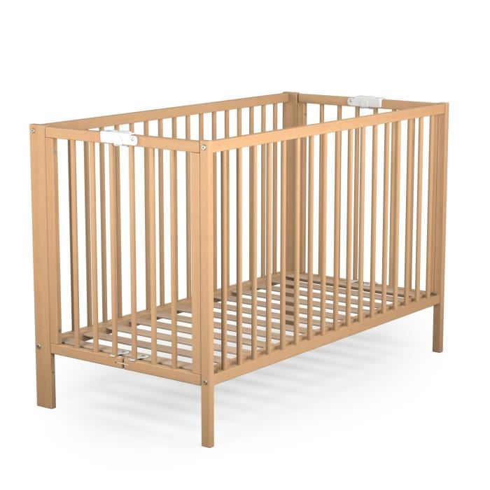 lit bébé en bois pliant